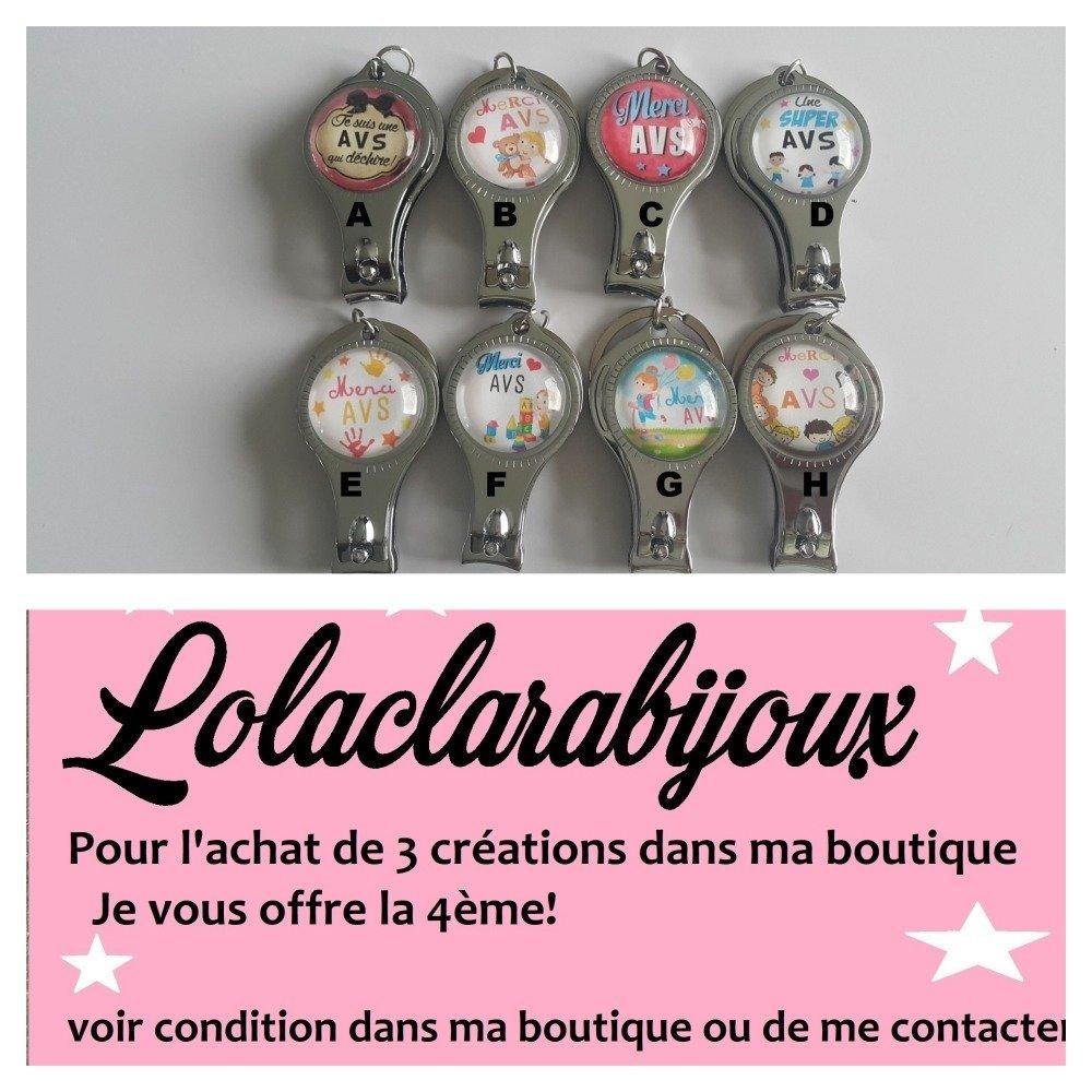 """porte clés avs"""" merci AVS"""" by Lolaclarabijoux"""