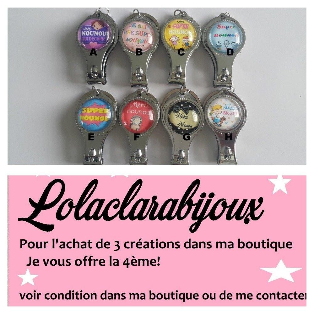 "porte clés nounou"" super nounou"" by Lolaclarabijoux"
