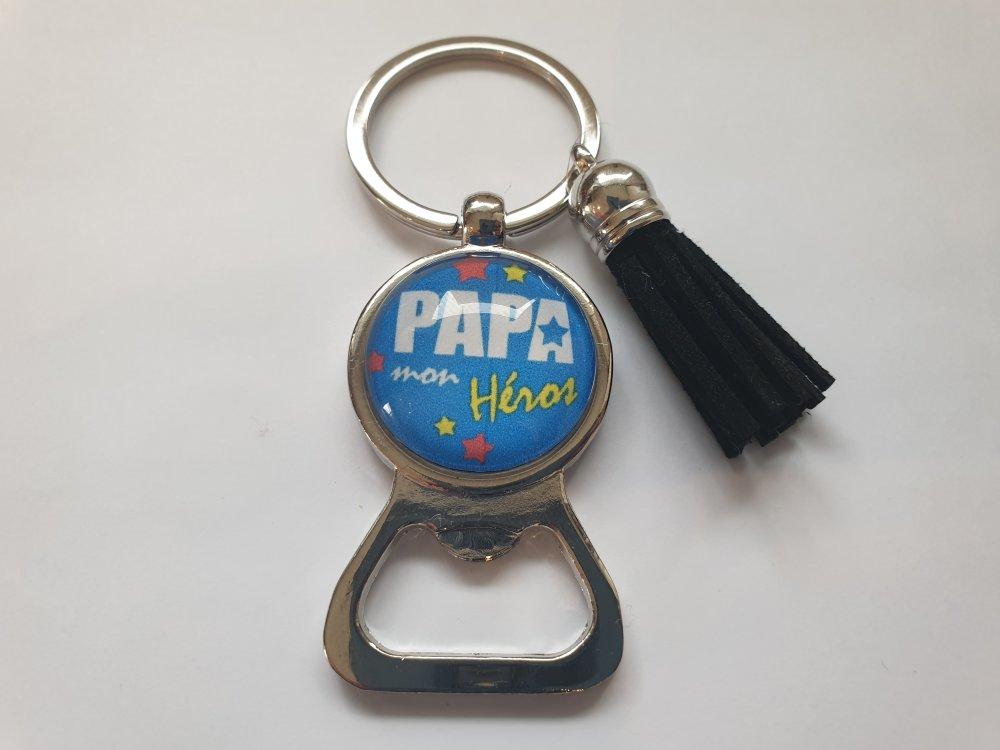 porte clés papa, papa mon héros,fêtes des père