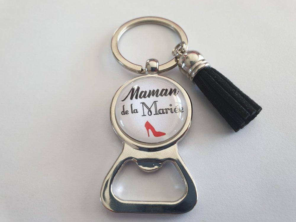 porte clés mariage, décapsuleur maman de la mariée