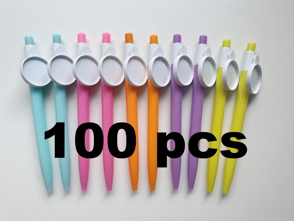 100 stylos cabochon, stylo bille avec support cabochon