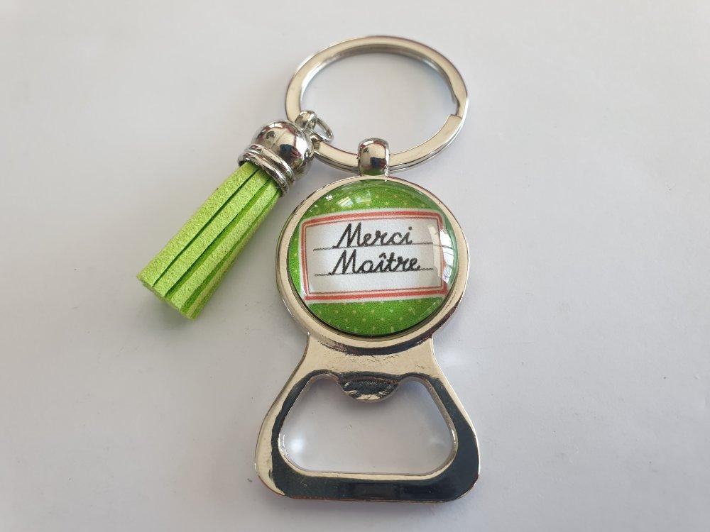 porte clés décapsuleur maître, porte clés merci maître
