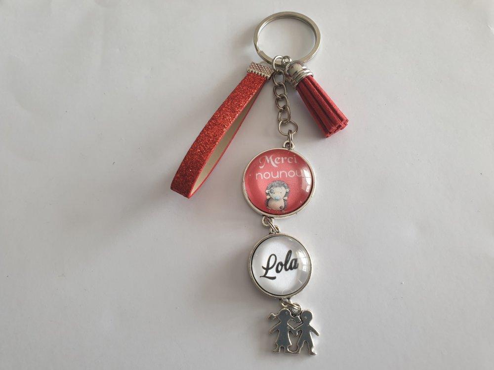 porte clés merci nounou,cadeau Nounou
