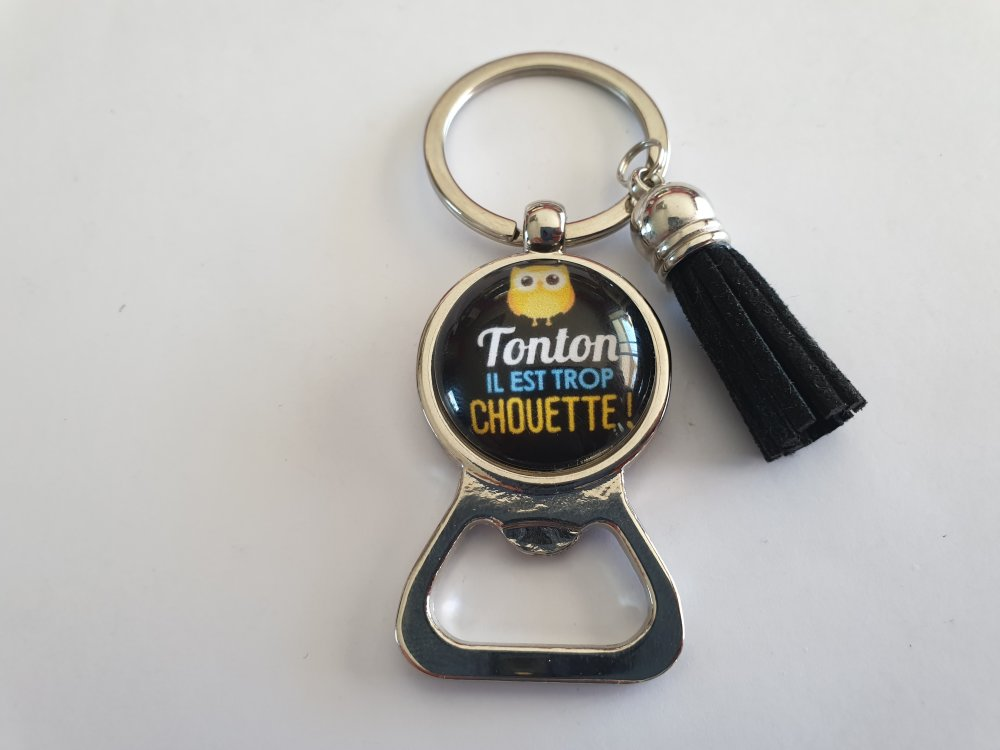 porte clés décapsuleur tonton, un tonton trop chouette