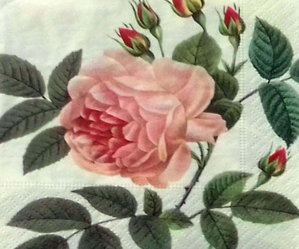 """44 """"serviette en papier"""" rose"""