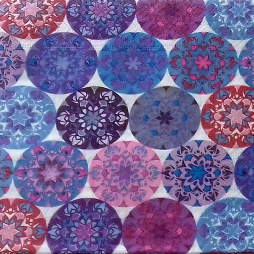 """435 """"serviette en papier"""" cercles multicolores"""