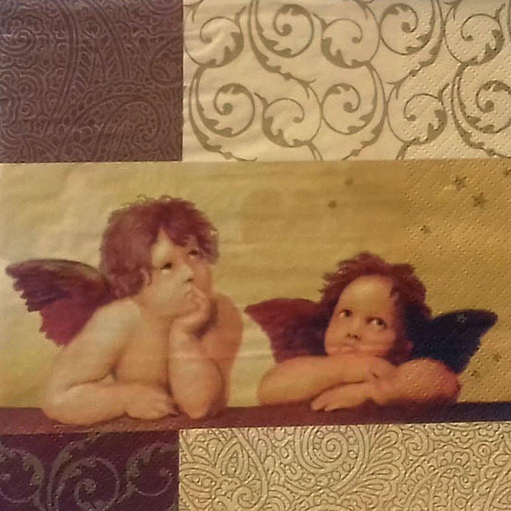 """454 """"serviette en papier"""" angelots (4)"""