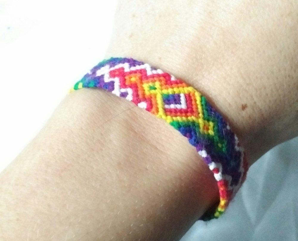 """Bracelet friendship """"HARMONIE"""", de l'amitié,  brésilien ou porte bonheur, """"arc en ciel"""""""