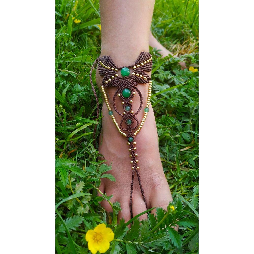 Bijoux de pied, barefoot sandales
