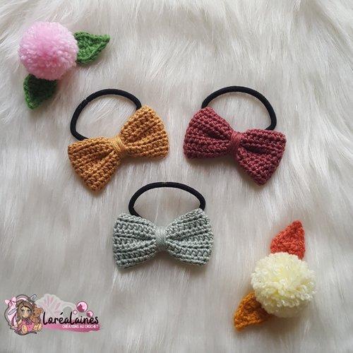 Lot de 3 noeuds au crochet pour cheveux