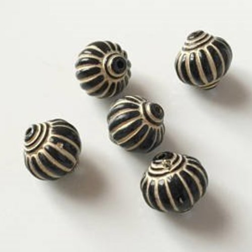 Perles acryliques marron