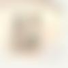 Boucles d'oreille asymétrique turquoise