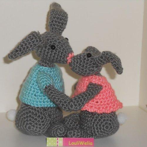 Bunny Rabbit / Lapin / Coniglio - Amigurumi   500x500