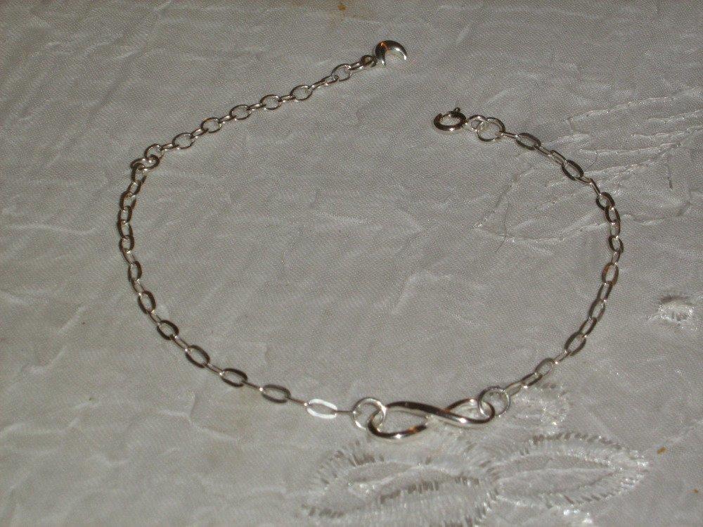 Bracelet_argent massif 925_infini_création_ fait main.