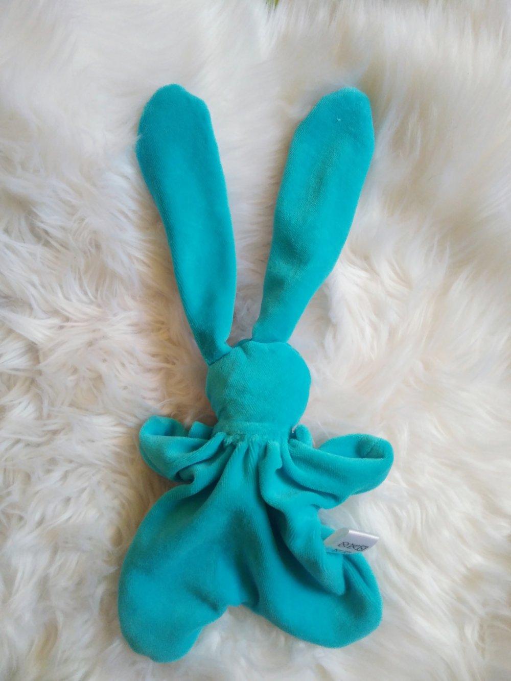 Un doudou lapin craquant fait main