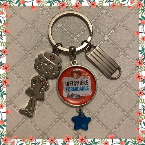 Porte clés infirmiere