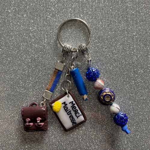 Porte clés merci maitresse