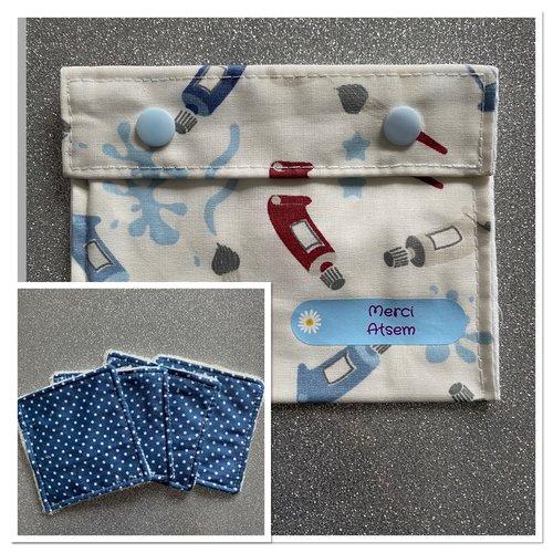 Lingettes démaquillantes en fibre de bambou + pochette - merci atsem