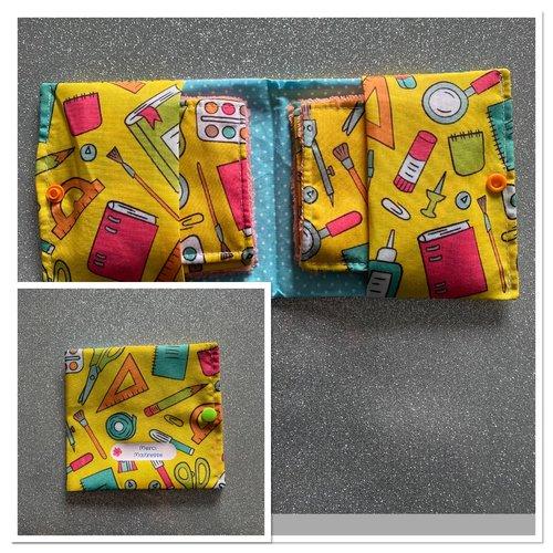 Lingettes démaquillantes en fibre de bambou + pochette - merci maitresse