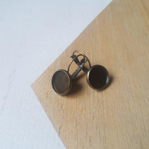 Boucles d oreille cabochon 12mm, boucles d oreille support cabochon 12mm
