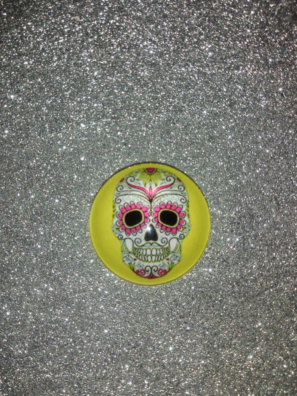 Lot de 6 cabochons Skull