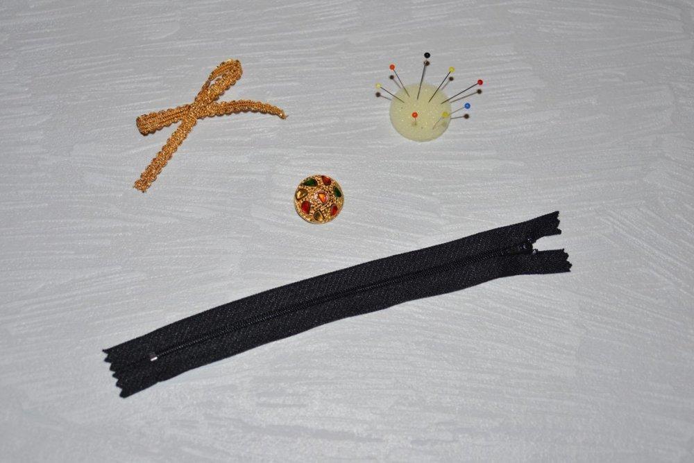 18 cms - Noir - Fermeture Eclair Non Séparable