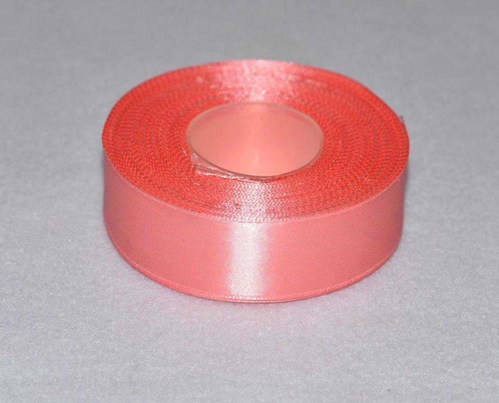Ruban de Satin 25 mm - Rose Incarnadin - Bobine de 27 mètres