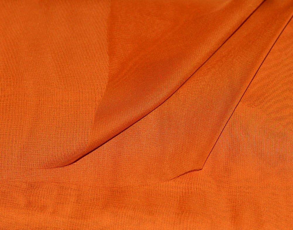Tissu Mousseline Orange, coupe par 50 cms