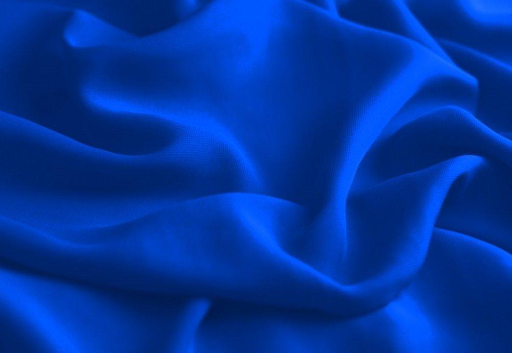 Tissu Mousseline Bleu Royal, coupe par 50 cms