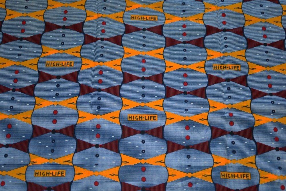 Tissu Wax 204 Motif Africain 100% Coton, coupe par 50 centimètres