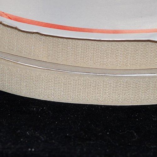 40mm Bande Auto Aggripante BLANC Scratch à Coudre coupe au mètre.