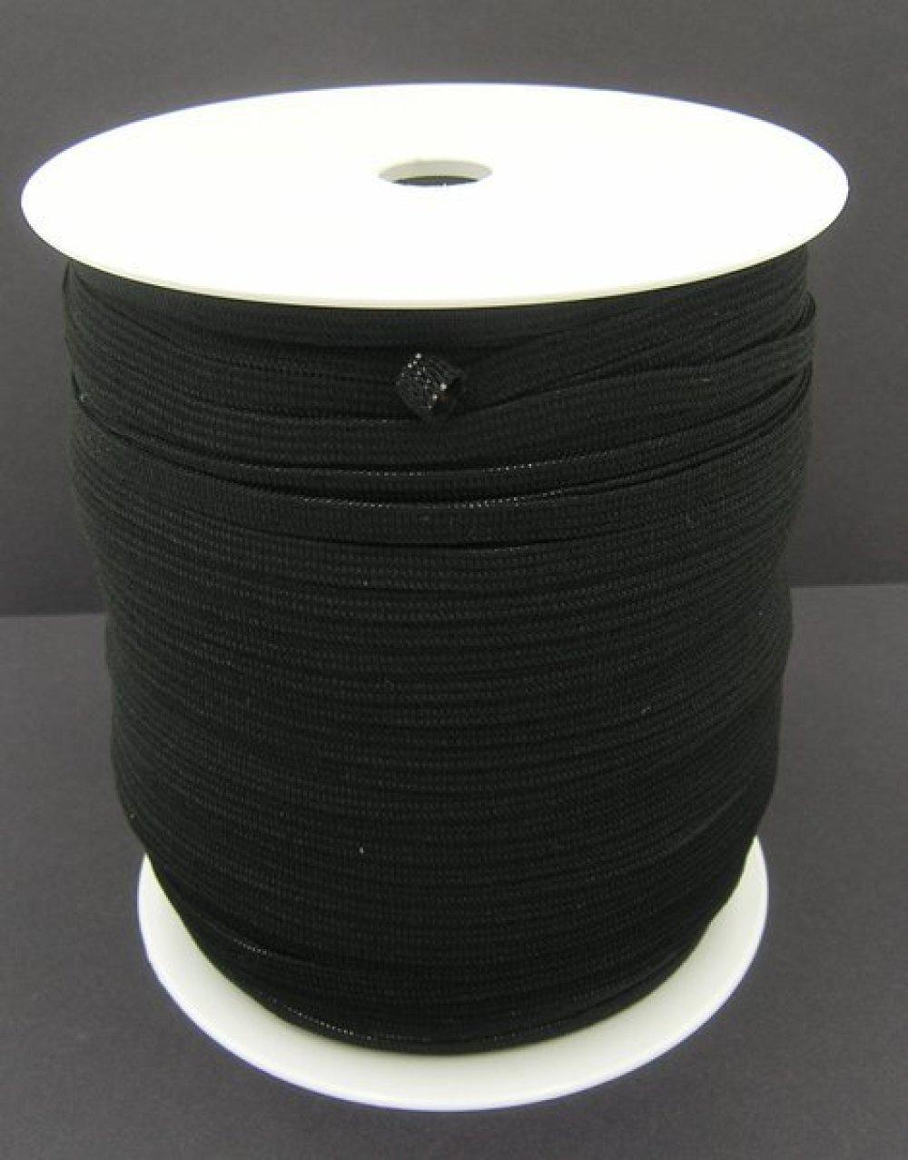 Elastique Plat Noir Largeur 5 mm Souple - coupe au mètre