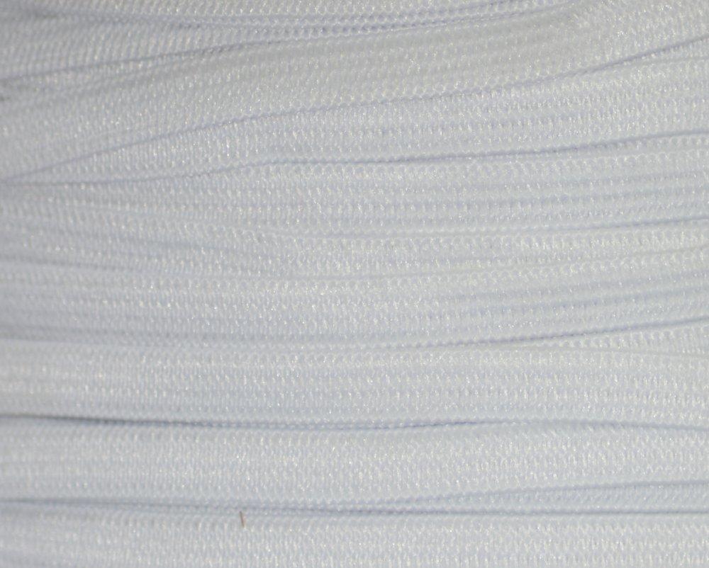 EN STOCK : Elastique Plat Blanc Largeur 8 mm Souple - Coupe au mètre