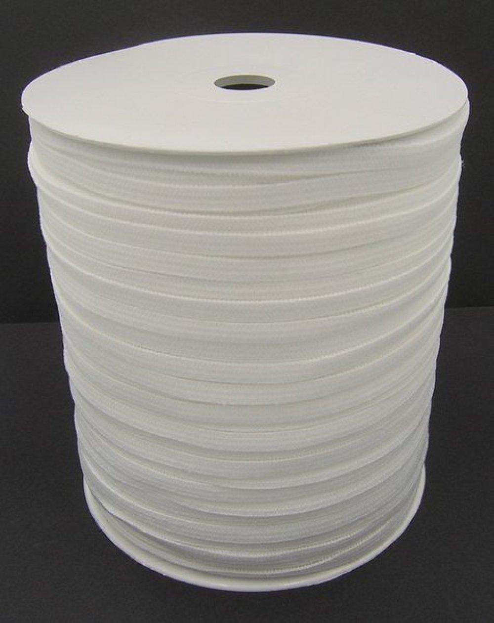 Elastique Plat Blanc Largeur 5 mm Souple - Coupe au mètre