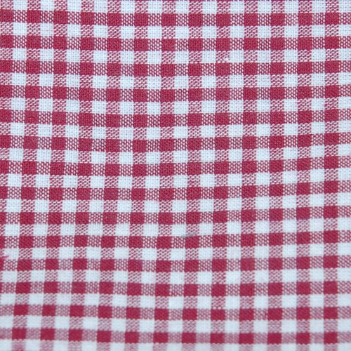 Tissu coton vichy bordeaux petit carreau - coupe par 20 cms