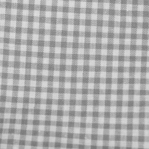 Tissu coton vichy gris petit carreau - coupe par 20 cms