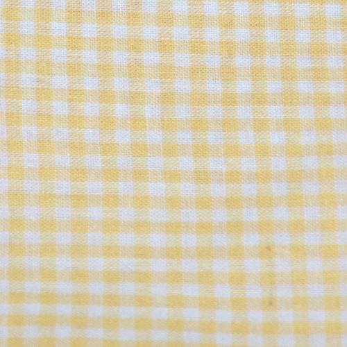Tissu coton vichy jaune petit carreau - coupe par 20 cms
