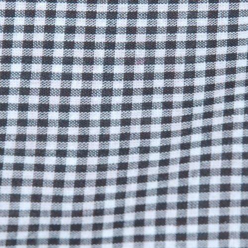 Tissu coton vichy noir petit carreau - coupe par 20 cms