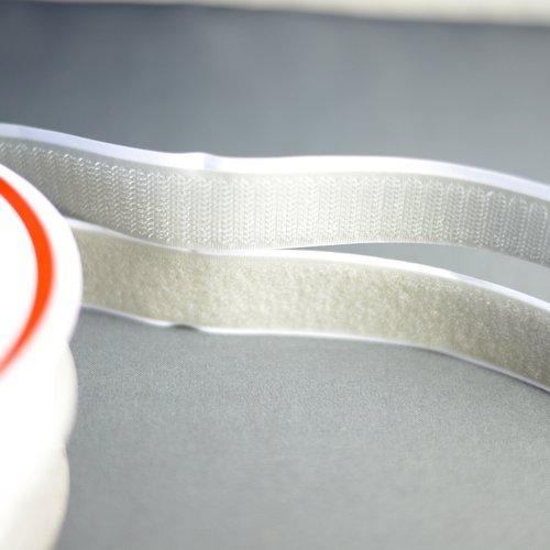 20mm - bande auto agrippante adhésif type velcro gris scratch autocollant, coupe par 50cms