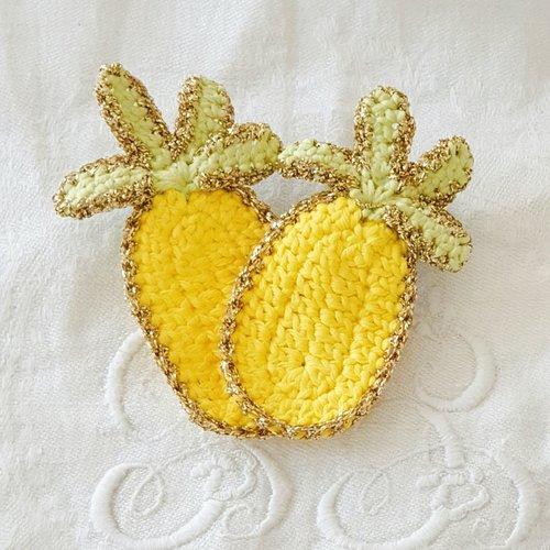 Broche ananas au crochet
