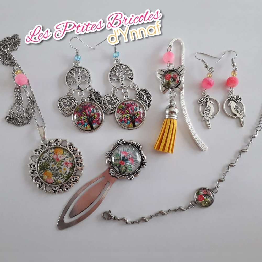 """Collection tropicale Marque-pages """"Flamants roses"""""""