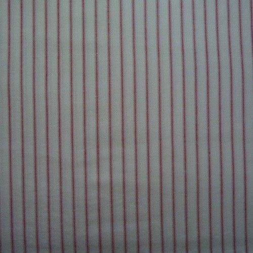 Coupon tissu rayé écru et rouge 50*70cm [ref 043*5070]