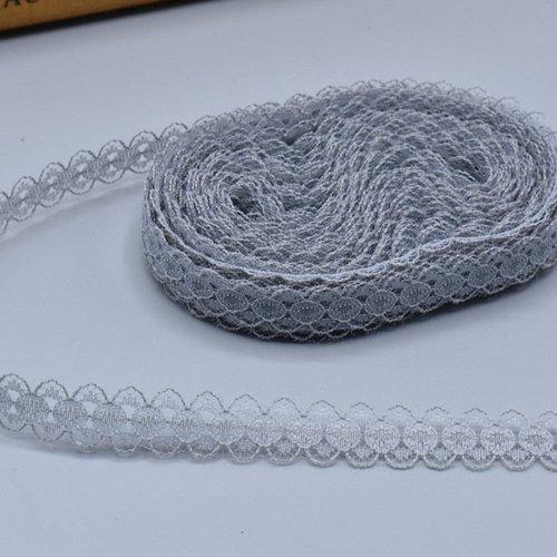 2 M dentelle gris//argent largeur 1 cm