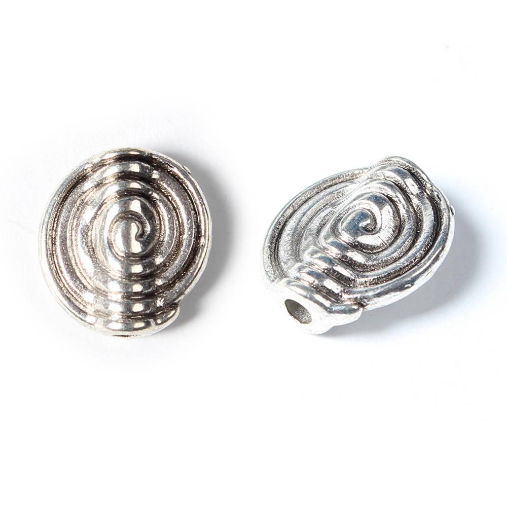 Perle en argent de style tibétain ovale