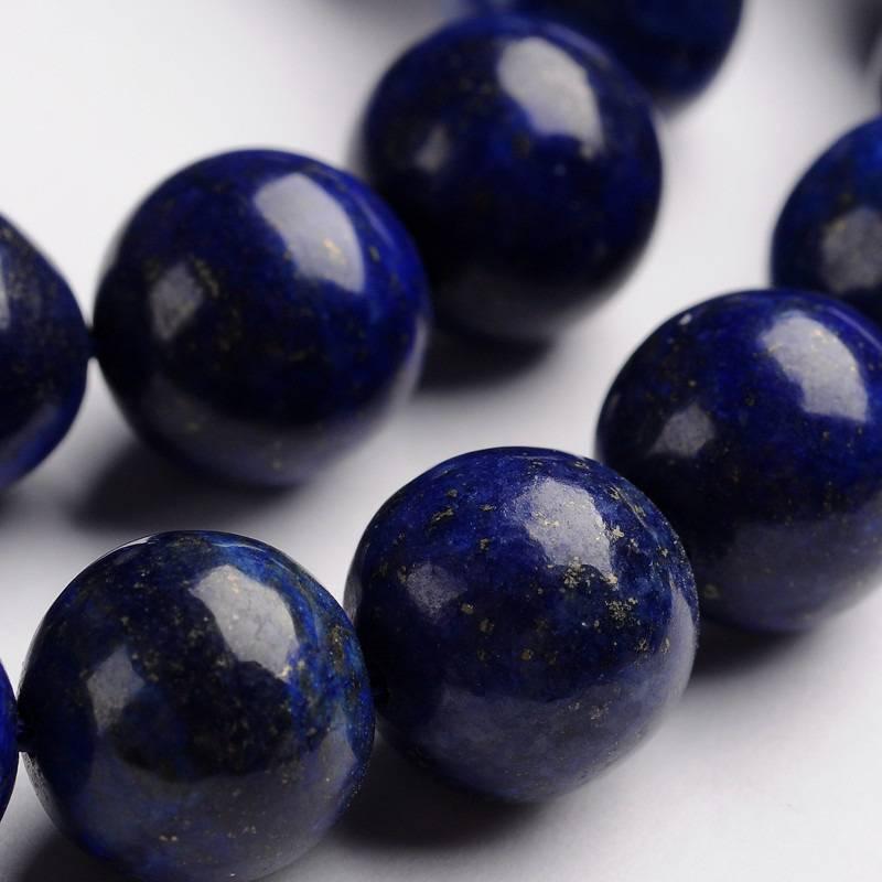 Perle Lapis lazuli pierre précieuse naturelle
