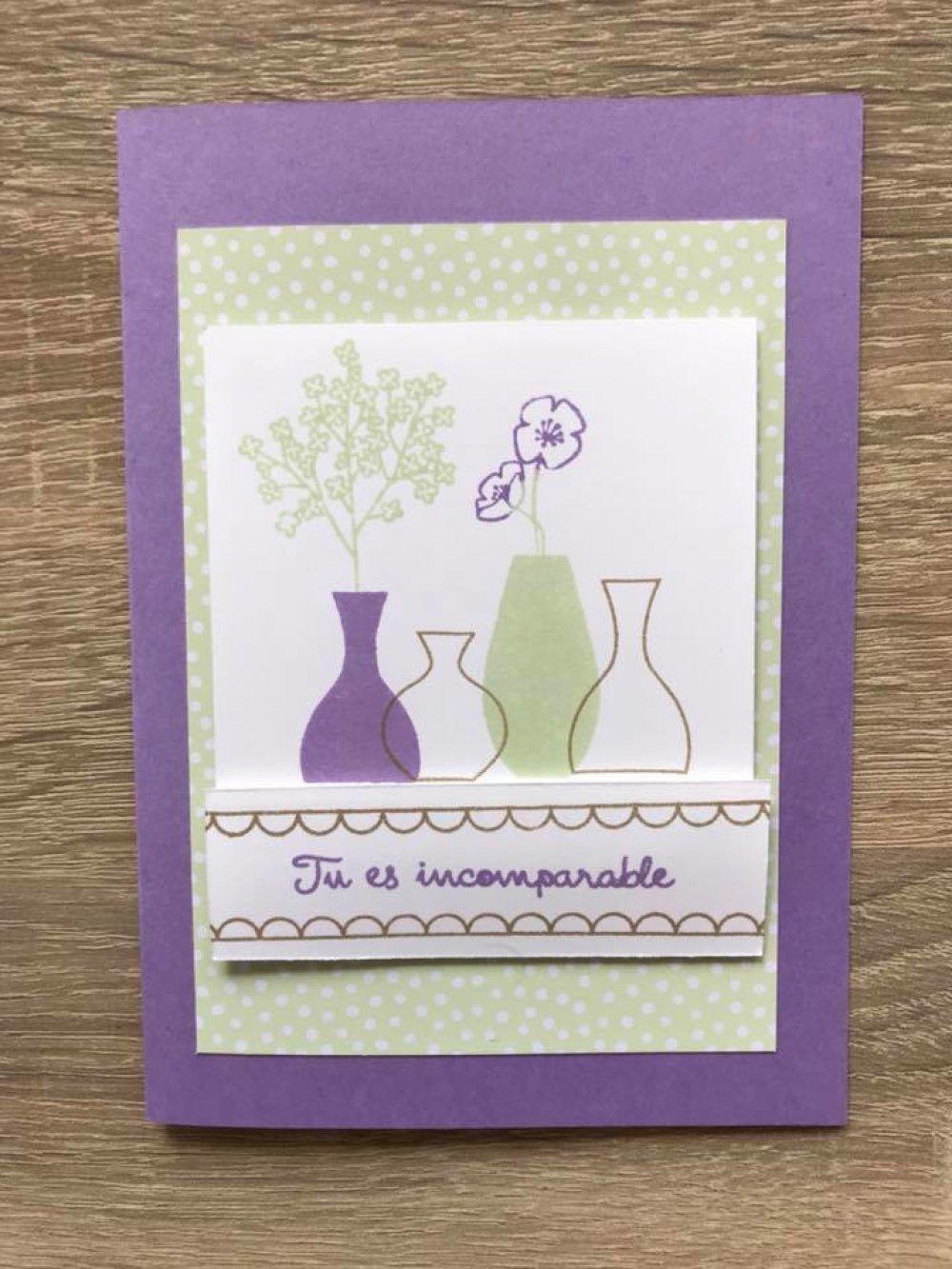 """Carte """"Tu es incomparable"""" et son enveloppe assortie"""