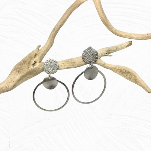 Boucles d'oreilles puces acier inoxydable
