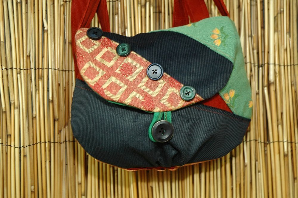 Sac Minaudière Tissus Patchwork Collection Lina 0357