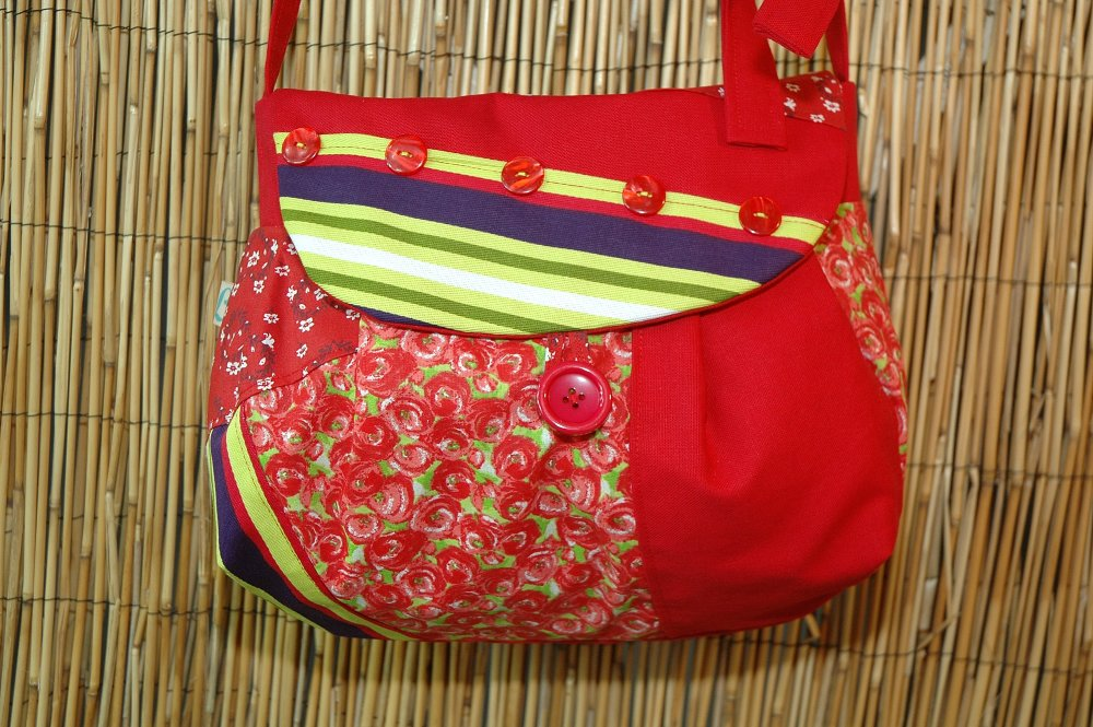Sac Besace Tissus Patchwork Collection Lola 4304