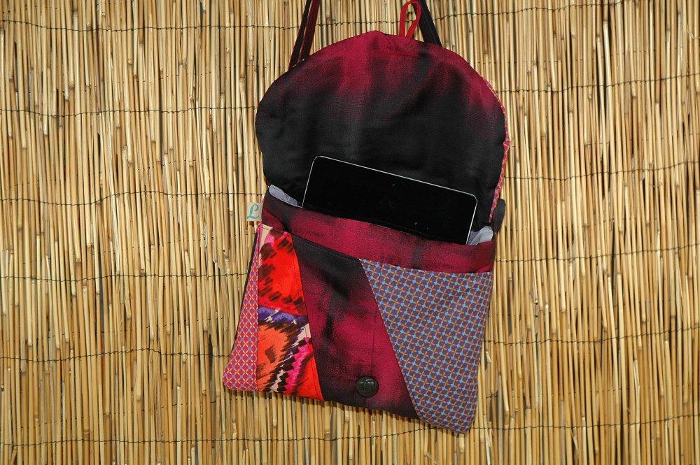 Housse Ipad /Tablette Tissus Matelassé Patchwork Réf 5287